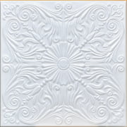 White Styrofoam Ceiling Tile Astana (Package of 8 Tiles) - same as Spanish Silver and R139