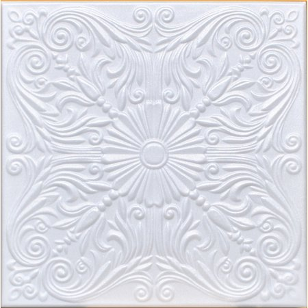 White Styrofoam Ceiling Tile Astana (Package of 8 Tiles) - same as Spanish Silver and