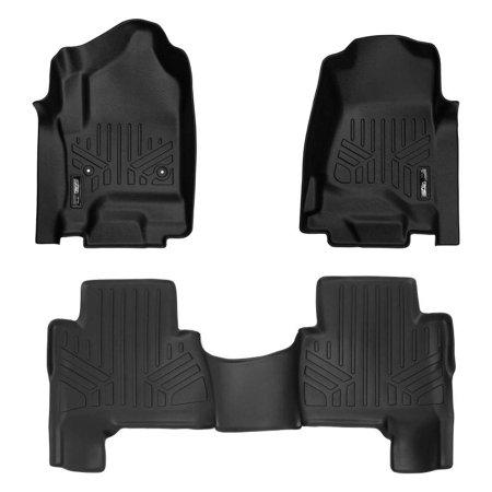 Maxliner 2015-2019 Cadillac Escalade ESV Smartliner Floor Mats 2 Row Liner Set Black (Cadillac Escalade Esv Rear Floor)