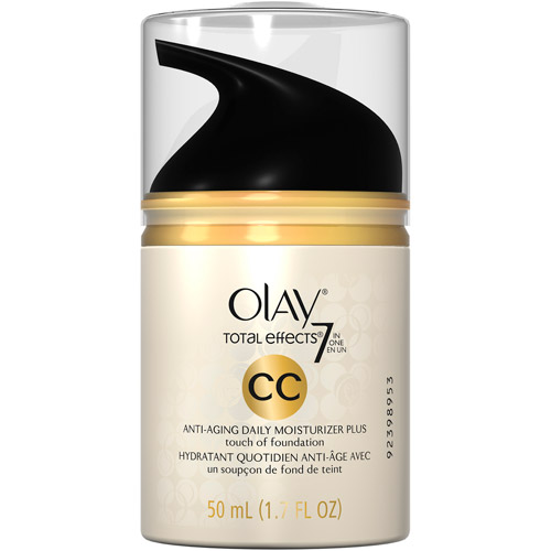 Olay Total Effects 7 In One Anti-Aging Daily Facial Moisturizer Plus Foundation Cream Color, 1.7 oz