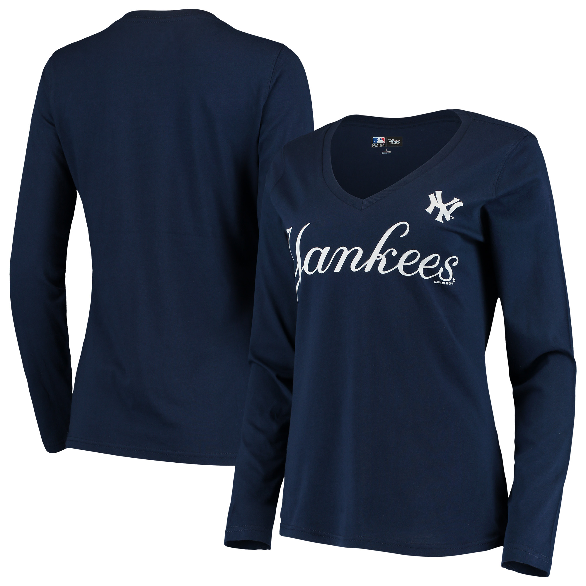 New York Yankees G-III 4Her by Carl Banks Women's Post Season Long Sleeve T-Shirt - Navy