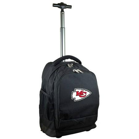 Mojo Licensing Premium Wheeled Backpack, Kansas City Chiefs