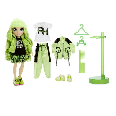 Rainbow High Jade Hunter – Green Fashion Doll with 2 Outfits