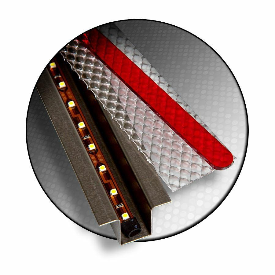 GhostLight - Clear w/ Red LED 15.25 Dual Flush Mount Ligh...
