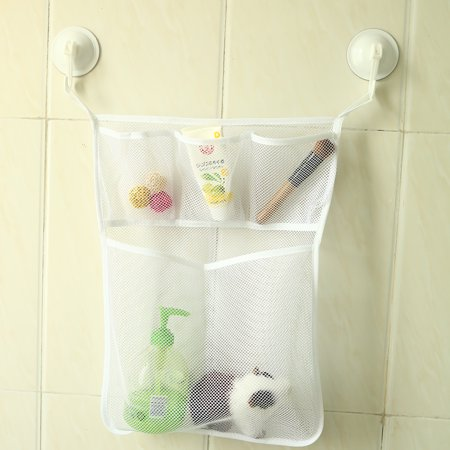 Bath Tub Organizer Bag Storage Holder Basket Kids Baby Shower Toys