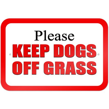 Keep Dogs Off Grass (Please Keep Dogs off Grass Red)