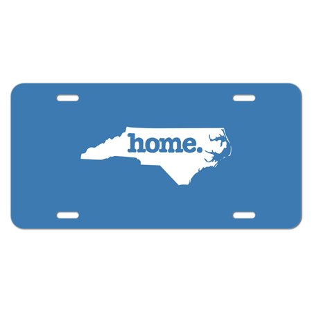 North Carolina NC Home State Novelty Metal Vanity License Tag Plate - Solid Denim Blue