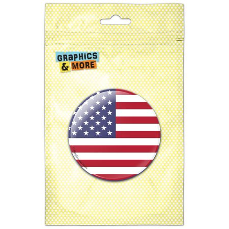 Counter Magnet (The United States National Country Flag Refrigerator Button Magnet )