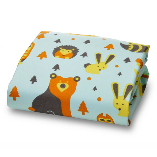 Where the Polka Dots Roam Little Woodland Creatures Ultra Microfiber Luxury Fitted Crib Sheet