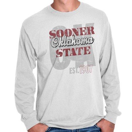 Brisco Brands Oklahoma Okie Team Spirit OK Long Sleeve Tee Shirt Top](Team Spirit Wear)