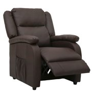 Kinbor Electric Mage Recliner Sofa Chair Heated Ergonomic Couch W Control Brown