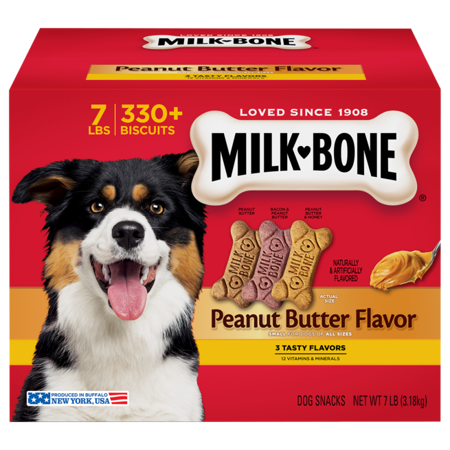 Milk-Bone Peanut Butter Flavored Dog Treats Variety Pack, Small/Medium, 7-Pound