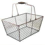 Stella Rectangular Wire Mesh Shopping Basket - Copper 12in