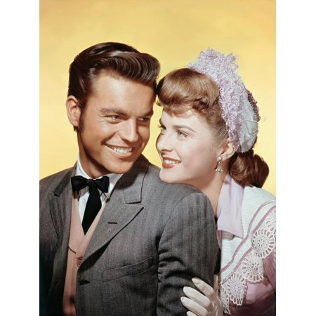 BROKEN LANCE, 1954 directed by EDWARD DMYTRYK Robert Wagner and Jean Peters (photo) Print Wall Art