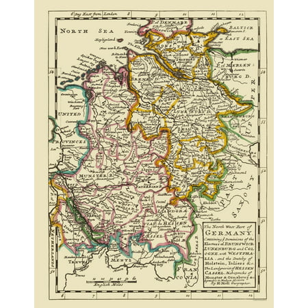 Map Of North West Germany.Old Germany Map Northwest Germany Bowles 1883 23 X 29 53