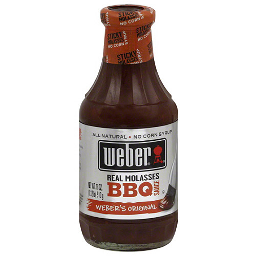 Weber Weber's Original Real Molasses BBQ Sauce, 18 oz, (Pack of 6)