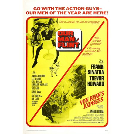 Our Man Flint 1966 Von Ryans Express 1965 Us Poster James Coburn Tm And Copyright  20Th Century Fox Film Corp All Rights Reservedcourtesy Everett Collection Movie Poster Masterprint