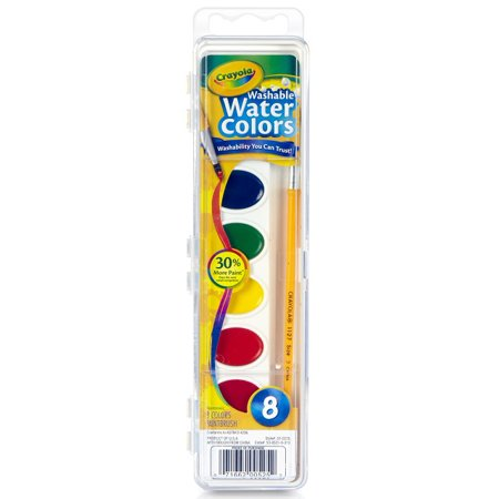 Crayola 8 count watercolor paint pans for Walmart arts and crafts paint