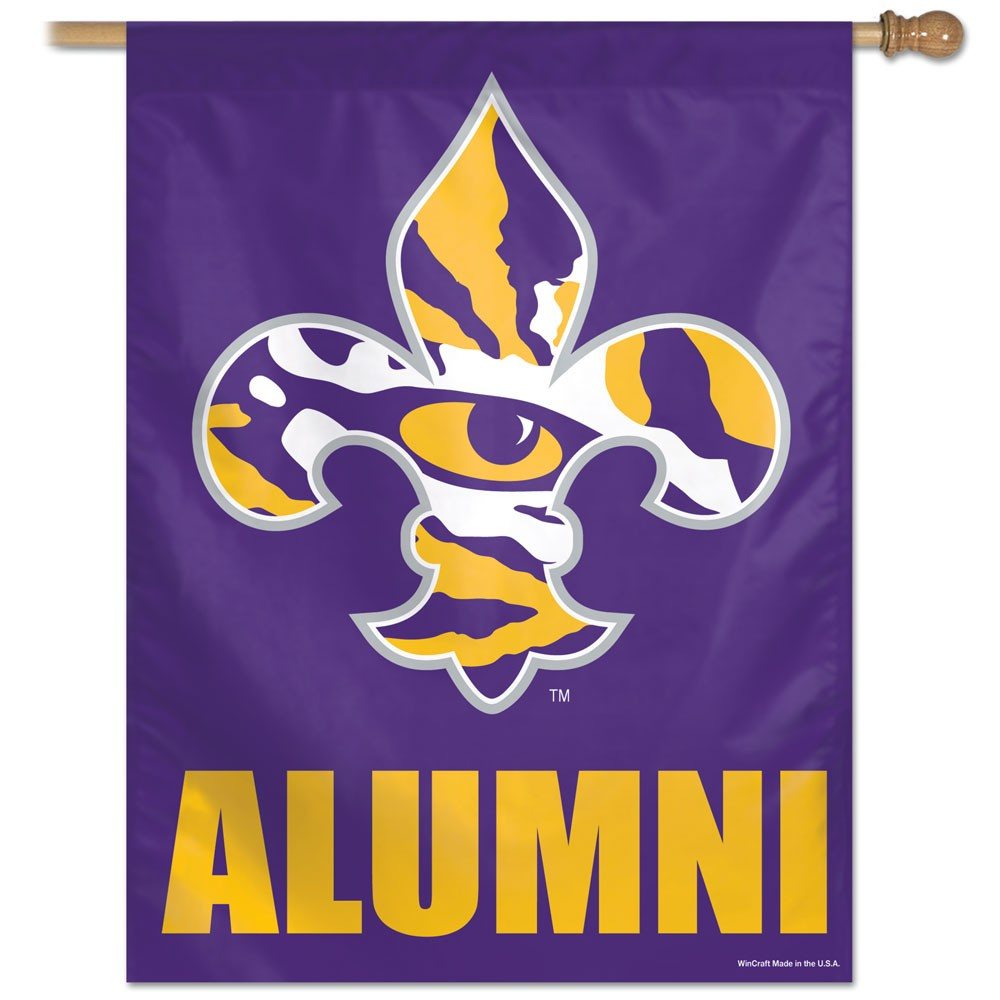 LSU Tigers Official NCAA 27 inch  x 37 inch  Veritcal Banner Flag by Wincraft