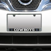 Dallas Cowboys Carbon Bottom Only Metal Acrylic Cut License Plate Frame