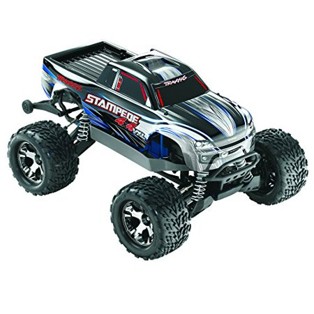 Traxxas Stampede 4X4 Vxl 1 10 Monster Truck Rtr With 2 4Ghz Radio  3000Mah Battery   4 Amp Peak Dc