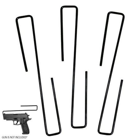 3 Pc Gun Hanger Pistol Handgun Holder Safety Rack Hook Storage Cabinet Organizer thumbnail