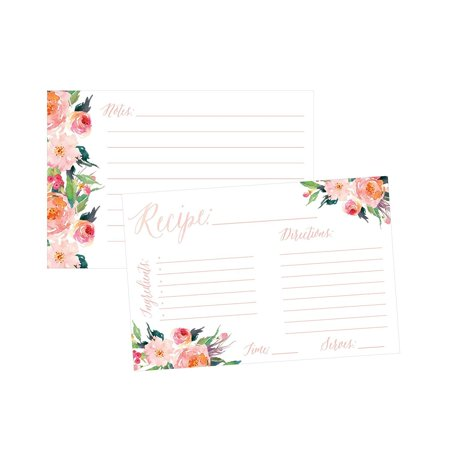 4x6 Recipe Cards, (Set of 50) Recipe Cards, Blank Recipe CardsBridal Shower, Neighbor Christmas Holiday Gift Thick Recipe Card, Recipe Note Cards ()