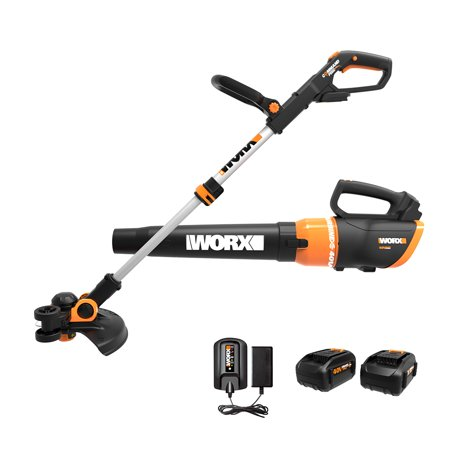 WORX WG925 40V Command Feed String Trimmer and Turbine Leaf Blower Combo