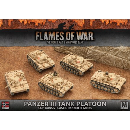 - Flames of War 4th Edition German Panzer III Tank Platoon FOW GBX96