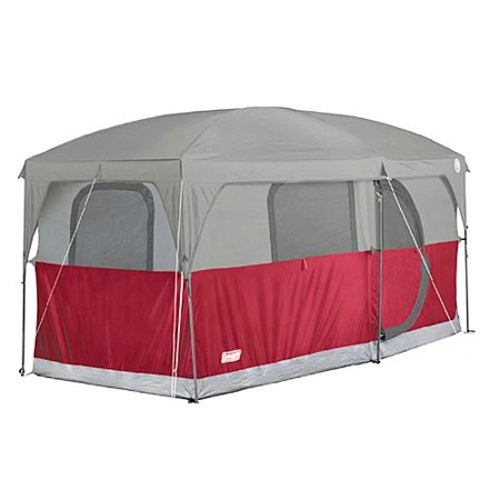 Coleman Hampton 6 Person Family Camping Cabin Tent W  Weathertec   13  39  X 7  39