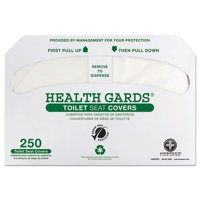 Procter & Gamble GREEN1000 Health Gards Recycled Toilet Seat Covers, White, 250 pk, 4 Pk ct by Procter & Gamble