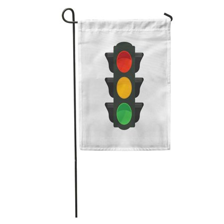 SIDONKU Green Semaphore Traffic Light Red Signal Stoplight Stop Street Access Garden Flag Decorative Flag House Banner 12x18 - Semaphore Signal Flags