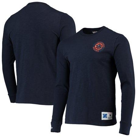 Chicago Bears Mitchell Ness Slub Knit Long Sleeve T Shirt