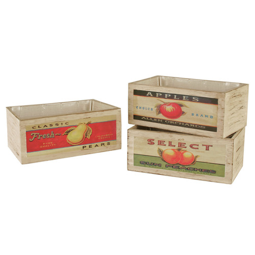 WaldImports Rectangular Planter Box (Set of 3)