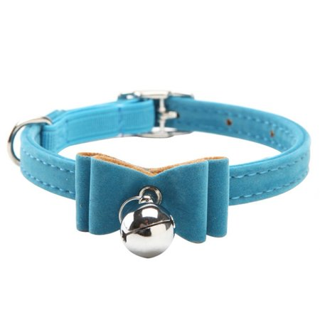 Velvet Breakaway With Bow Cat And Dog Collar, Blue