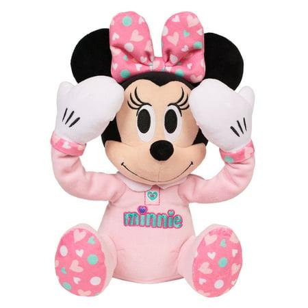 disney baby peek a boo plush minnie mouse walmart com