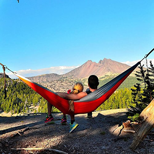 Zimtown Portable Camping Hammock 2 Person Double Backpacking Hammock For Camping, Outdoor, Hiking, Travel, Beach, Yard