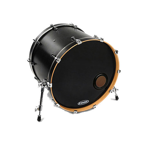 Evans Black EMAD Resonant Bass Drumhead