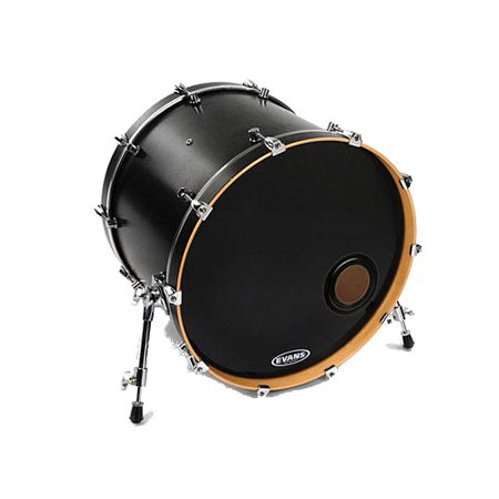 Evans EMAD Resonant Bass Drum Head - Black - 18