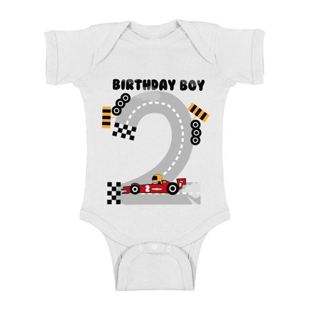 Awkward Styles 2nd Birthday Party for Boys Outfit I'm Two Bodysuit for Boy One Piece for Newborn Car Gifts for Boys Baby Boy Bodysuit Car Gifts for 2 Year Old Boy Car Birthday Boys One Piece Top Baby](Gift For Two Year Old)