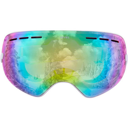 Traverse Virgata Ski, Snowboard, and Snowmobile Goggles, Midnight with Cobalt REVO Blue Lens