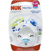 Nuk Orthodontic Pacifiers 6-18 Months, 3-Pack Value Pack, Boy