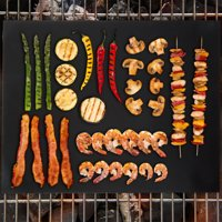 Nonstick BBQ Grill Mat, Set of 2- FDA Approved, Double Sided and Reusable Barbecue Grilling Mats for Gas, Charcoal, Electric Grills by Classic Cuisine
