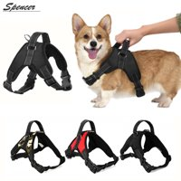 Spencer No Pull Dog Harness Safety Adjustable Pet Vest Harness For Large Medium Dogs Puppy Chest Strip Leash with Belt Buckle Outdoor Walking(Black,XL)