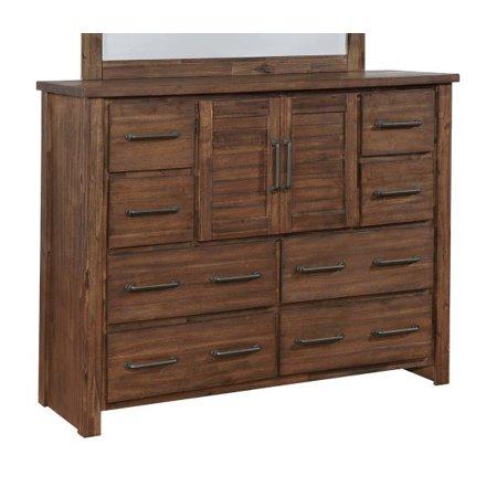 Creek Door Chest - Coaster Company Sutter Creek Eight-Drawer Dresser With Two Doors, Vintage Bourbon