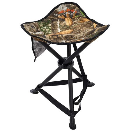 Tri-Leg Stool, Realtree Edge, Powder-coated steel frame and 600D Polyester fabric provides strength and stability for a long lasting use By ALPS OutdoorZ