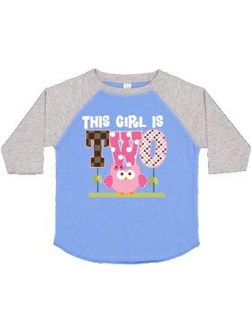 2nd Birthday Cute Owl 2 Year Old Toddler T-Shirt