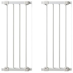 KidCo 10 Inch Angle-Mount Safeway Gate Extension White, 2 Count
