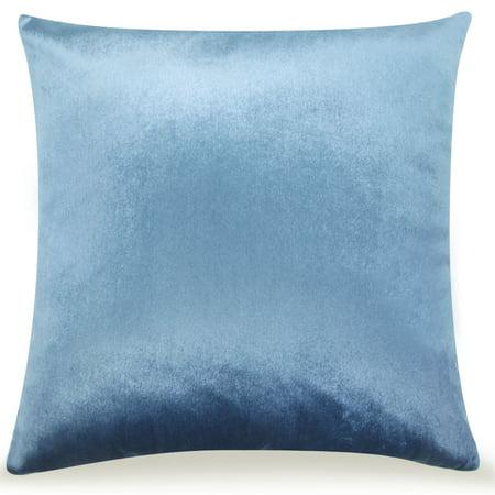 Pal Fabric Velvet Cushion Sham Throw Decroractive Sofa Pillow Cover 18x18 inches (LIGHT BLUE)