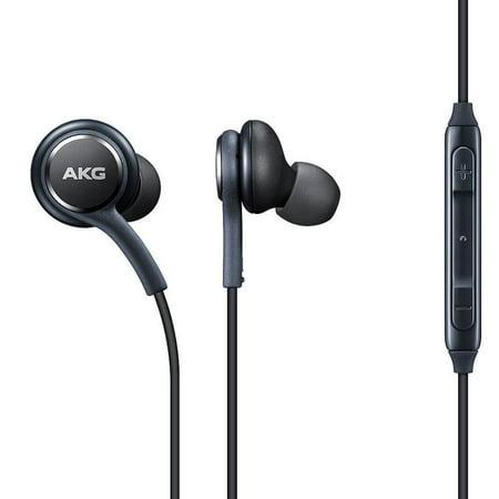 Akg K701 Headphones - Genuine Black AKG Samsung Earphones Headphones Headset Handsfree For Samsung Galaxy S8 / S8 Plus+ / Note 8 with extra Earjels (No Retail Packaging)